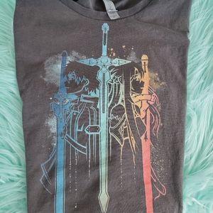SAO Sword Art Online Tee XL L